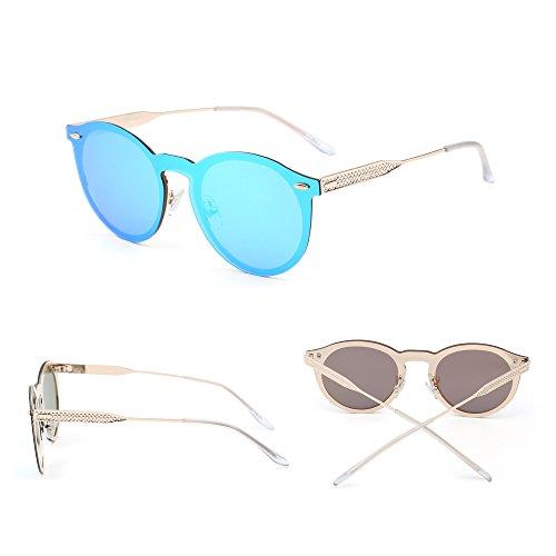 5d8201f2a2 ... Gafas de Sol Polarizadas Sin Montura Una Pieza Reflexivo Redondas  Espejo Anteojos Hombre Mujer · Anterior · / Siguiente