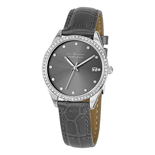 Jacques Lemans La Passion Orologio da polso da donna 34 mm Bracciale in pelle nuova LP di 133 a