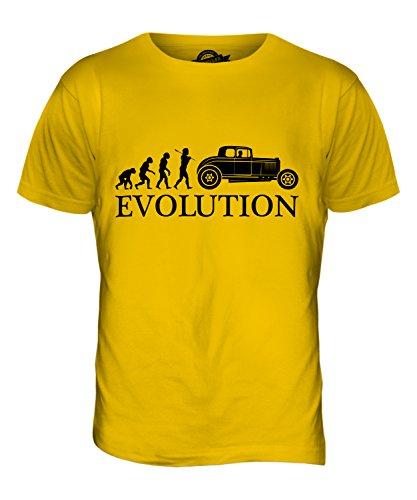 CandyMix Hot Rod Evolution Des Menschen Herren T Shirt Dunkelgelb