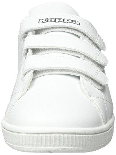 Kappa Unisex-Erwachsene Court Velcro Low-Top Weiß (1067 White/Navy)