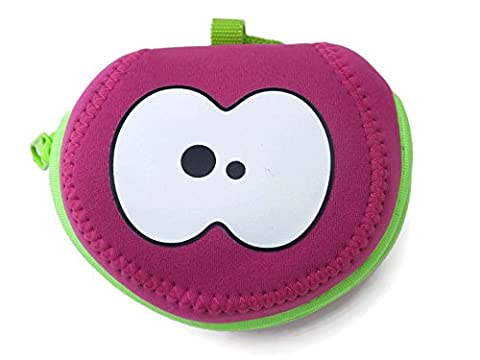 Hot Pink & Green Apple Bag by Fruitfriends. Made From Colourful Neoprene To Protect Your Favourite Fruit. Includes FREE Fruitfriends 'EYES' Ice Pack (blue or green). A Fun Way To Your 5 A