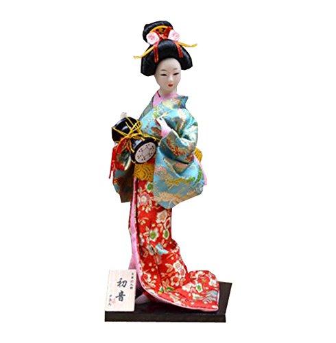 """Zufälliger Stil - 12 \""""japanische Geisha Puppe mit traditionellen Vintage Kimono - A11"""