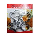 #6: SYGA 12 Pieces Cookie Cutter Stainless Steel Cookie Cutter With different Shape