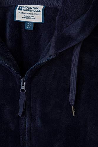 Mountain Warehouse Snaggle Damen-Fleecejacke mit Kapuze Marineblau DE 32 (EU 34) - 5