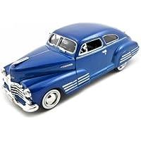 1948 Chevy Aerosedan Fleetline Diecast Car Model 1/24 Blue Motormax by Premium American Classics