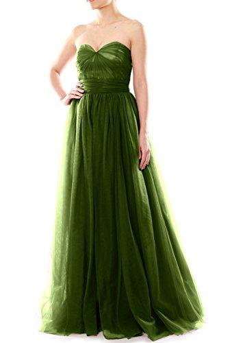 MACloth - Robe - Trapèze - Femme Olive Green
