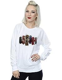 DC Comics Women's Justice League Movie Team Hexagons Sweatshirt