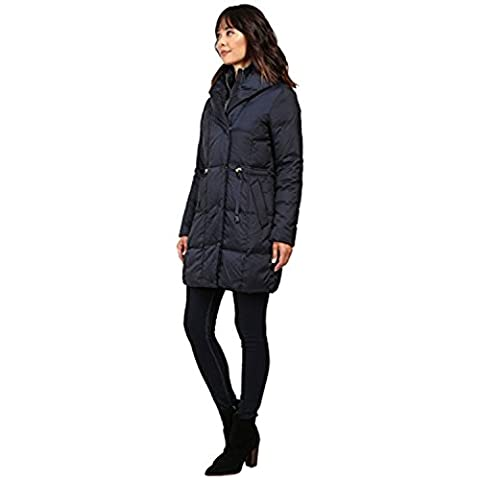 Cole Haan Women's Bib Front Down Coat with Oversized Shawl Collar Rainstorm Outerwear LG (US 12-14)