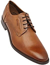 Venturini Mens Leather Lace Up Derby - B078PGMMJR