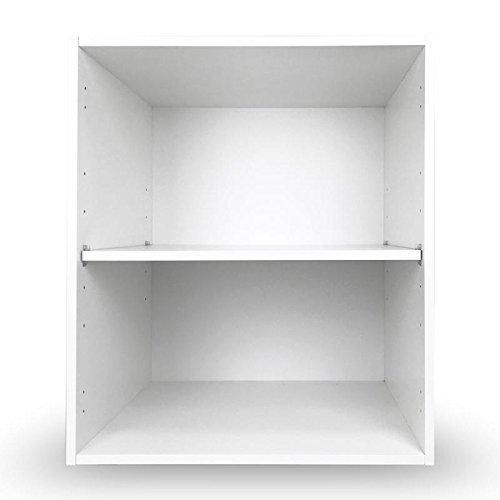 V.SIERRA (Módulo Mueble bajo de Cocina y baño (70 Alto x 90 Ancho x 58 Fondo) con 1 balda móvil, Color Blanco, Requiere Montaje, no Incluye Puertas ni Patas