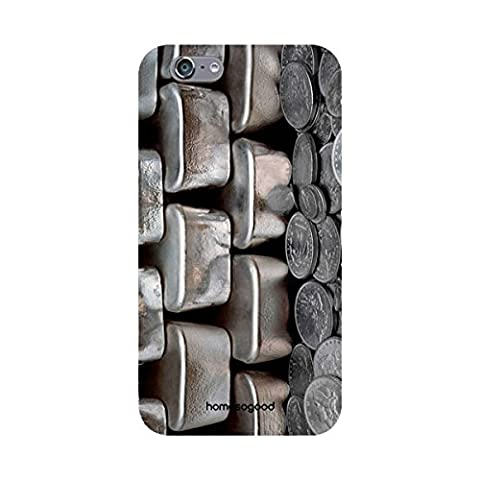 HomeSoGood Vintage Coin Collection Silver 3D Mobile Case For iPhone 6 (Back Cover)