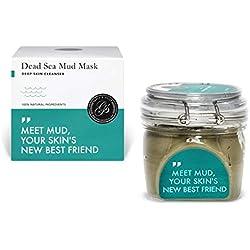 Masque de boue la Mer Morte 200g GRAND - Naturel le nettoyage gommage des pores profonds, acné traitement sur visage corps Hydratant purifie les toxines impuretés, élimine cellules mortes excès huile