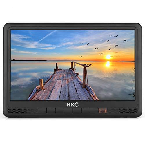 HKC P10H6 tragbarer Mini-Fernseher (10 Zoll HD TV) HDMI+USB, 60Hz, Mediaplayer, eingebauter Akku, 12V Kfz-Ladegerät, tragbare Antenne