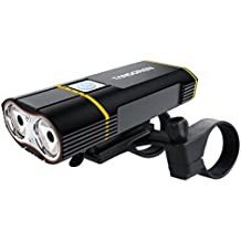 USB Rechargeable Bike Light with 2000 Lumens CREE XM-L2 LED Lamp, TANSOREN Quick-release Waterproof Bicycle Headlight and Free Batteries