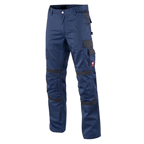 Preisvergleich Produktbild Krähe Arbeitshose Profession Pro Herren – angenehm & strapazierfähig, 8 Taschen, vorgeformte Kniepolstertaschen in blau Größe 54