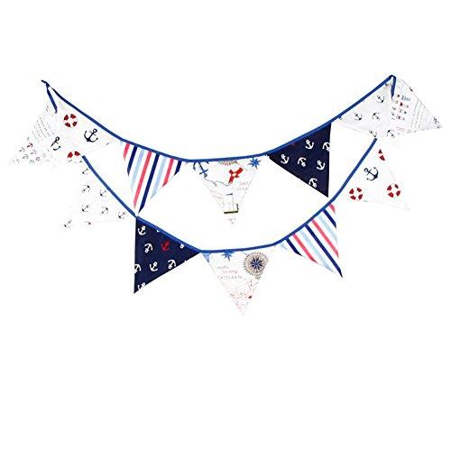 Hrph 12 Flags 3.2m Pirate Themed Bunting Wimpel Flaggen Banner Garland Hochzeit / Geburtstag / Babyparty -Partei-Dekoration (Halloween-themed Hochzeit Dusche)