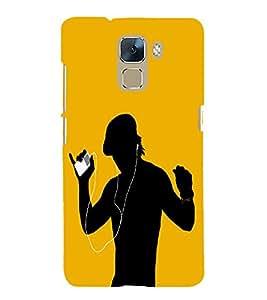 PrintVisa Listening Music Song 3D Hard Polycarbonate Designer Back Case Cover for Huawei Honor 7 :: Huawei Honor 7 Enhanced Edition :: Huawei Honor 7 Dual SIM