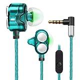 [Dual Dynamic Driver] X7 Heavy Bass Stereo 3,5 mm Kopfhörer Headset für iPhone Huawei grün