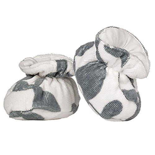 Milk Barn , Chaussures souples pour bébé (fille) Gris Fuchs Elefant