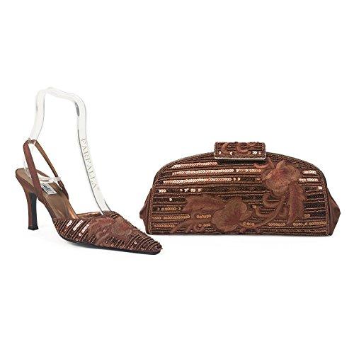 Farfalla lusso borsa scarpe e Marrone (marrone)