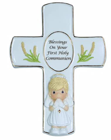 Precious Moments, Blessings On Your First Holy Communion, Bisque Porcelain