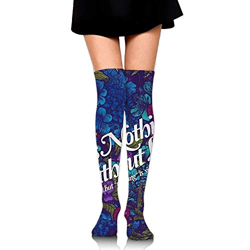 Hohe Socken Women Socks Thigh High Lift is Nothing Long Tube Dress Legging Athletic Compression Stocking -