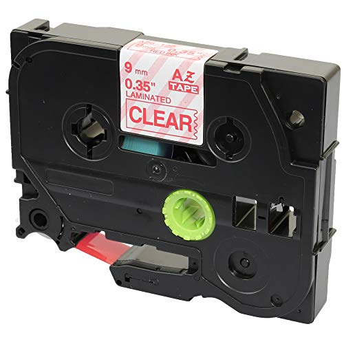 Compatible TZ-122/TZe-122 Red on Clear Label Tape (9mm x 8m) for Brother P-Touch Label Printing Machines