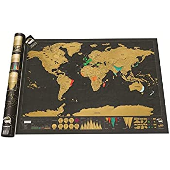 XXL Rubbel Weltkarte 88x52cm Rubbel Poster Landkarte Rubbelkarte Wand Deko
