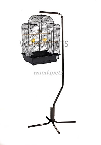 LIBERTA PAGODA BUDGIE CANARY FINCH BIRD CAGE WITH BLACK C7 HANGING STAND 1