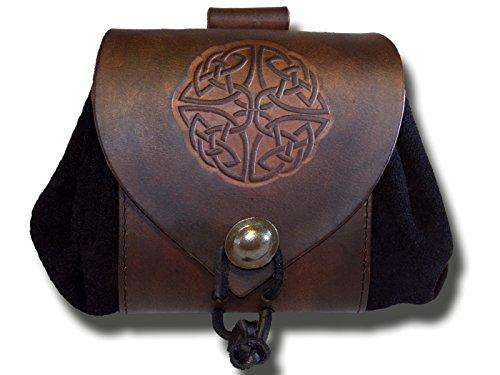 Trollfelsen Gürtelbeutel aus Leder mit Motiv