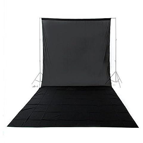 Una foto-engranajes Messines Nuevo Profesional 9.8 ft negro X 19.68ft estudio fotográfico foto de fondo 100% Cotton 21 muselina telón 3x6m Telón de fondo Photo Studio croma 3x6m Iluminación clave fondo de la pantalla de fondo negro No incluye marco de fondo
