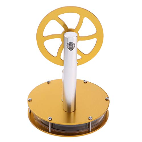 SM SunniMix Physik Stirlingmotor Heißluftmotor Dampfmaschinen Generator Modell - Gelb