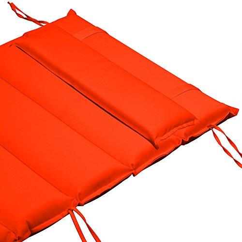 Matelas Coussin Orange pour chaise de Sauna - Rembourré Banc sauna Chaise longue
