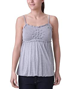 Oxbow Tanzac T-shirt bretelle léger jersey fluide femme Heather Grey 1