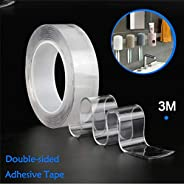 Torix 3 Meter Magic Improvement Double Sided Tape mounting Transparent Trace less Acrylic Reuse washable Water