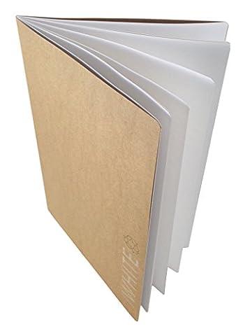 Artway - Carnet à dessin avec couverture papier kraft souple - papier cartouche blanc/recyclé - 130 g/m² - 28 pages - A3