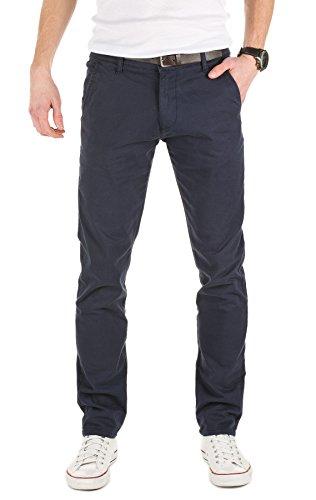 Yazubi Uomo Tempo Libero Pantaloni Chino Con Cintura, navy (3001), W34/L36