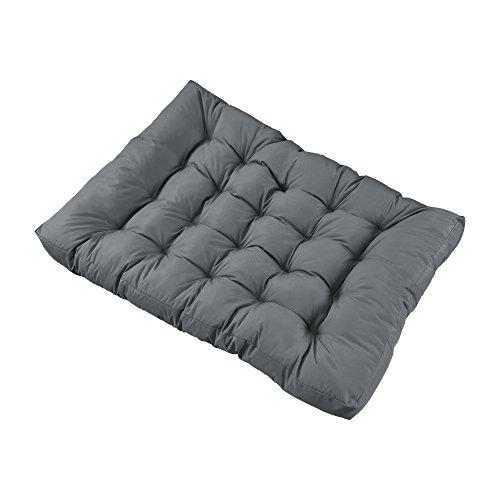 [en.casa] 1x Sitzkissen für Euro-Paletten-Sofa [Hellgrau] Palettenkissen Auflage in/Outdoor Polster Möbel