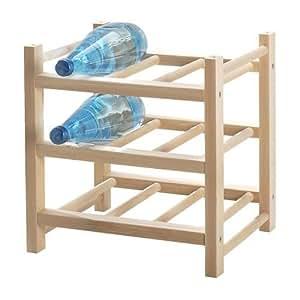 Ikea Hutten Range-bouteilles extensible en bois massif 9 places