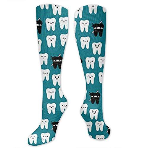 Gped Kniestrümpfe,Socken Tooth Fabric Way of The Ninja Tooth Compression Socks,Knee High Socks,Funny Socks for Women Men - Best Medical,Sports,Running,Nurses,Maternity,Pregnancy,Travel & Flight Socks