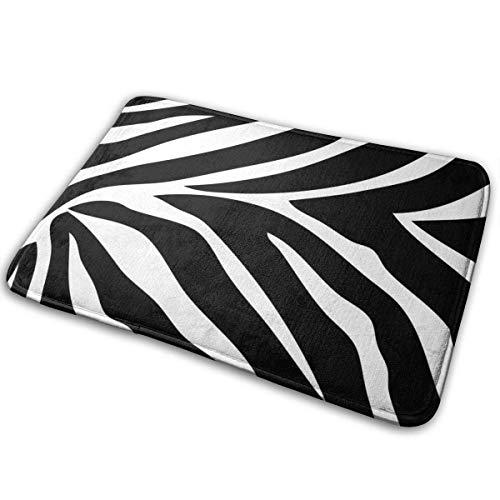 Bgejkos Fußmatten Zebra Pferd Tigerfell Tier Gestreifte Eingangsdecke rutschfeste Schöne Outdoor Indoor Entry Teppich für Patio Küche