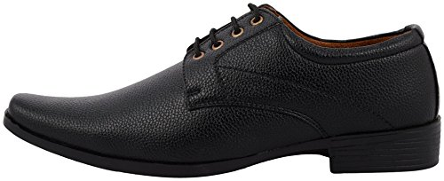 Alestino Mens Black Leather Formal Shoes (Fu02_8) image - Kerala Online Shopping
