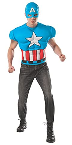 T-shirt Captain America Marvel deluxe adulte