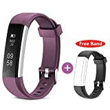 HolyHigh Fitness Tracker Smart Band for Men, Women and Kids (Purple)