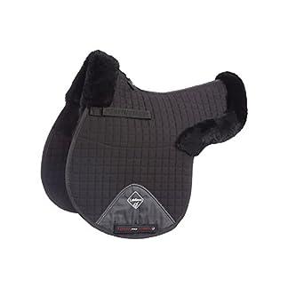 LeMieux Lambskin GP/Jumping Half Lined Numnah - Black Wool/Black Fabric, Medium 7