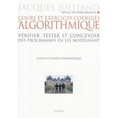 Algorithmique - cours et exercices corrigés
