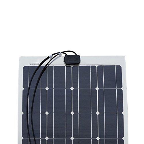 ECO-WORTHY 100W Watt Monocrystalline Semi Flexible Solar Panel Ideal For 12V Battery Charging On Boats Caravans Motorhome RV