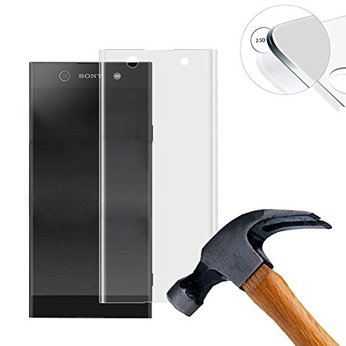 Lusee 2 X Pack (vollständige Abdeckung) Panzerglasfolie Schutzfolie für Sony Xperia XA1 / Z6 5.0 Zoll Ultra Hart Bildschirmschutz Tempered Glass Folie Screen Protector (Transparent)