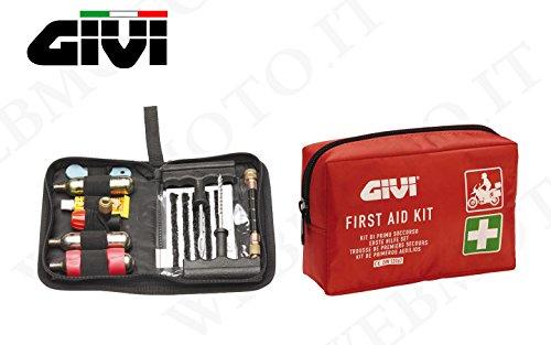 KIT GIVI sicurezza moto custodia pronto soccorso S301 e borsello ripara gomme tubeles S301 + S450