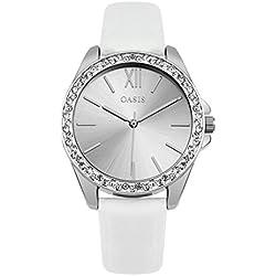 Oasis Damen sb006W weiß Armbanduhr